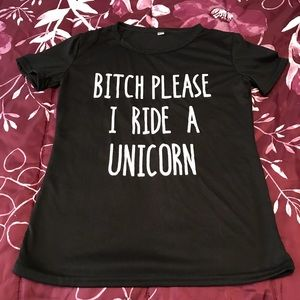 Unicorn and another B**ch shirts size smalll